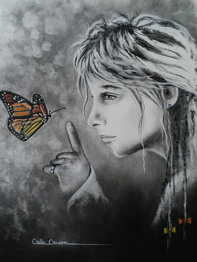 Butterfly Drawing - The Story Of Me by Carla Carson