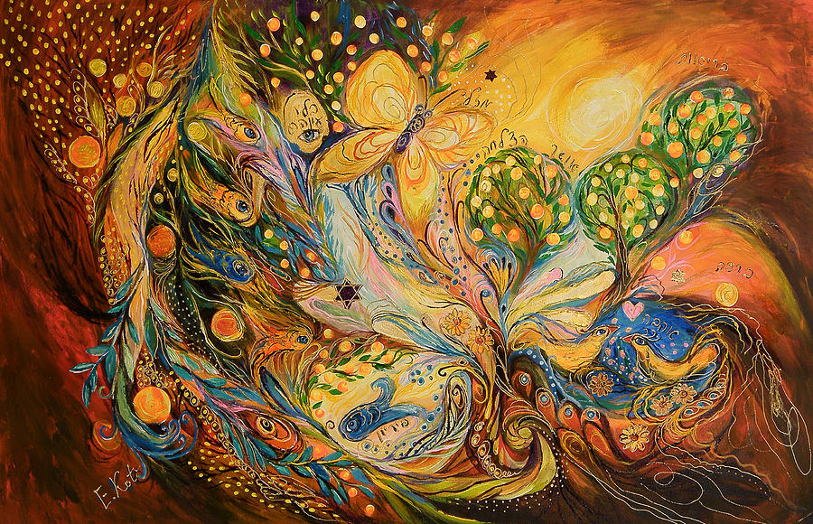 The Story Of The Orange Garden Painting  - The Story Of The Orange Garden Fine Art Print