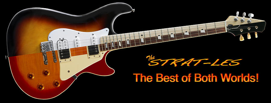 The Strat Les Guitar Photograph  - The Strat Les Guitar Fine Art Print