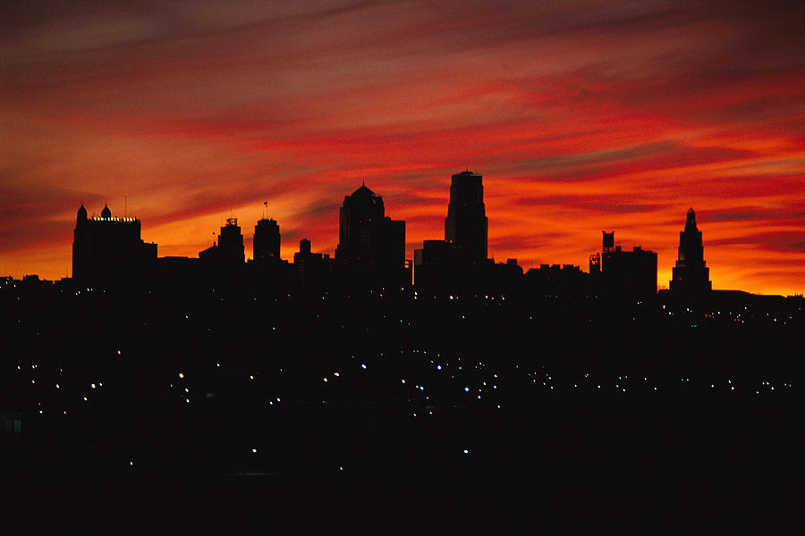 The Sun Rises Over The Skyline Photograph