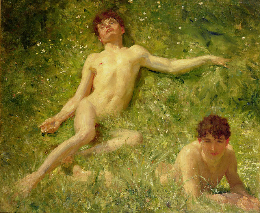 The Sunbathers Painting  - The Sunbathers Fine Art Print