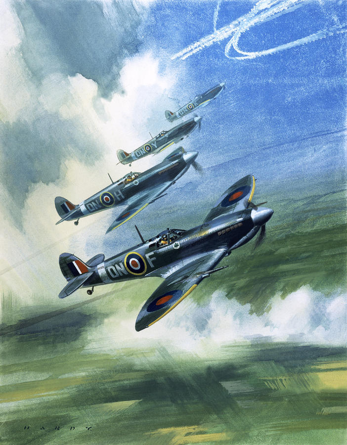 The Supermarine Spitfire Mark Ix Painting