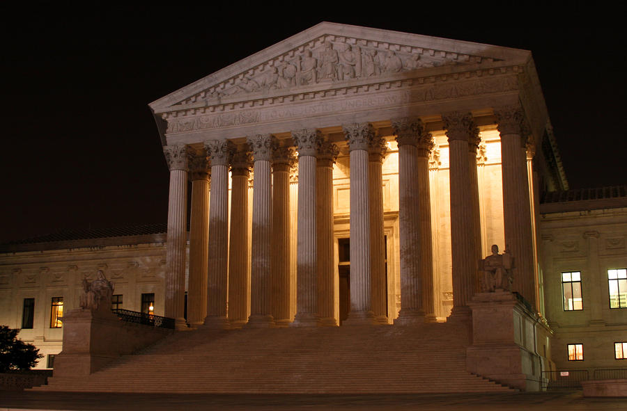 The Supreme Court Building At Night Photograph  - The Supreme Court Building At Night Fine Art Print