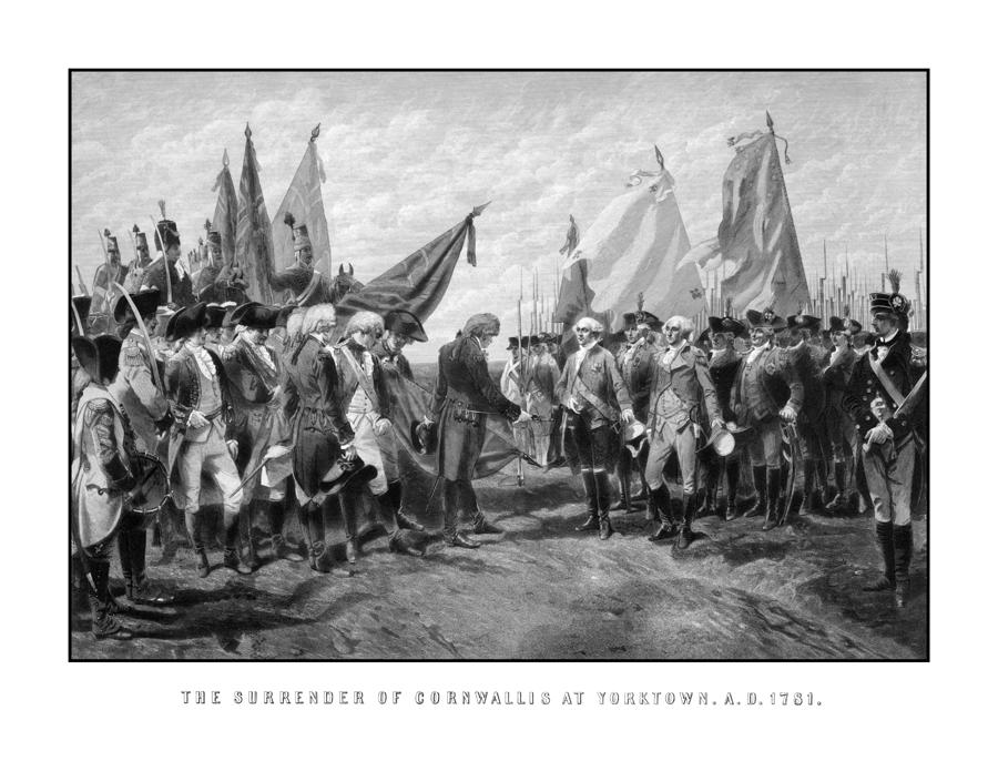 The Surrender Of Cornwallis At Yorktown Drawing  - The Surrender Of Cornwallis At Yorktown Fine Art Print
