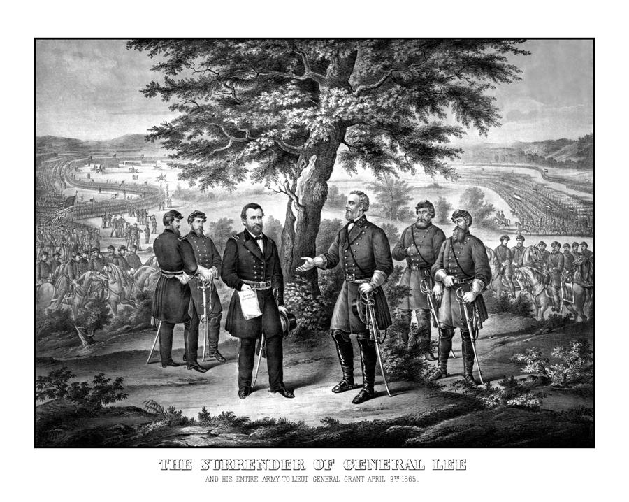 The Surrender Of General Lee  Drawing