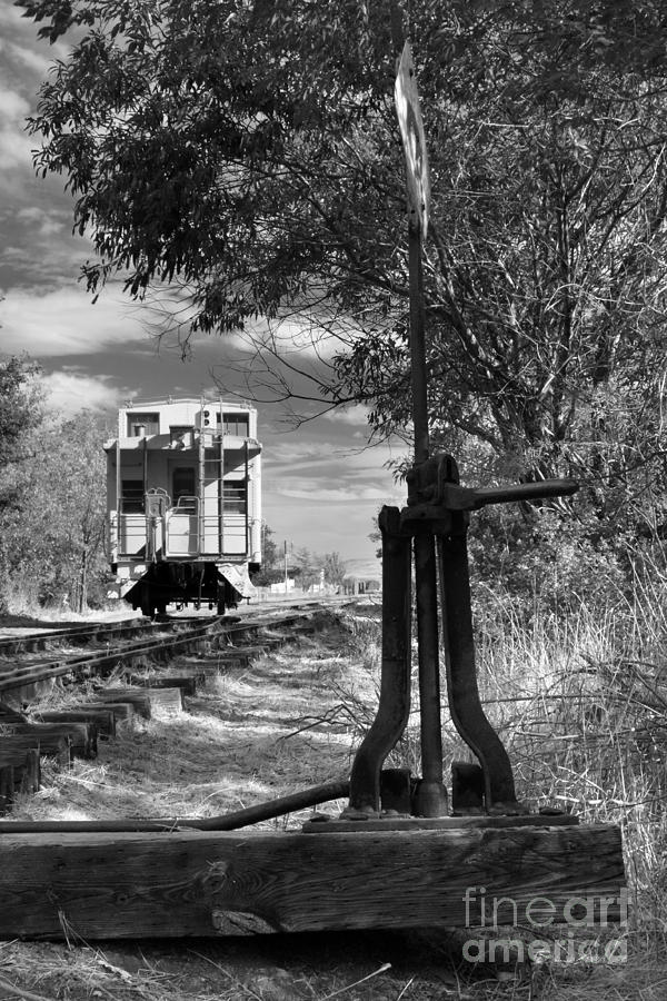 The Switch And The Caboose Photograph  - The Switch And The Caboose Fine Art Print