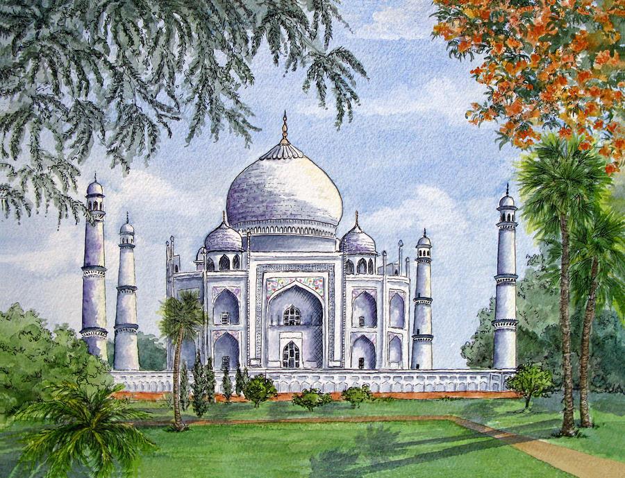The Taj Mahal Painting by Rodney Freeman