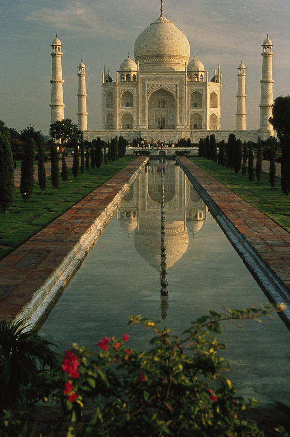 The Taj Mahal With A Reflection Photograph  - The Taj Mahal With A Reflection Fine Art Print