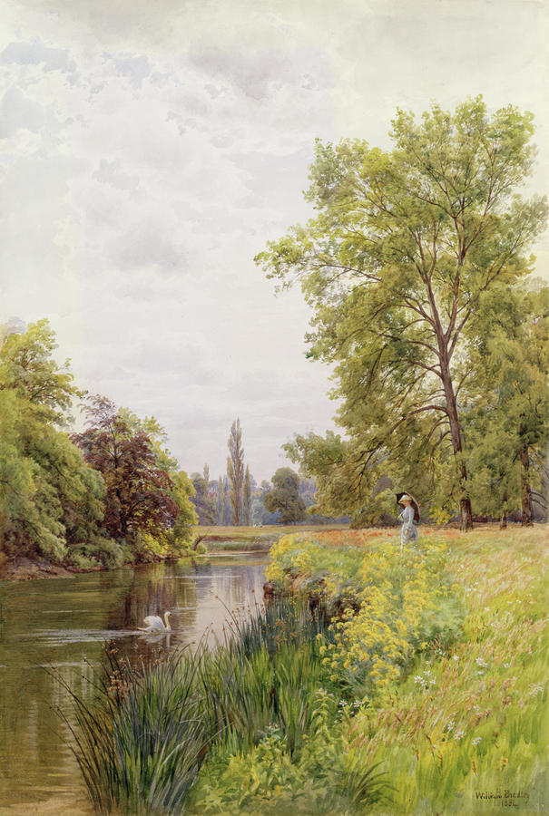 The Thames At Purley Painting