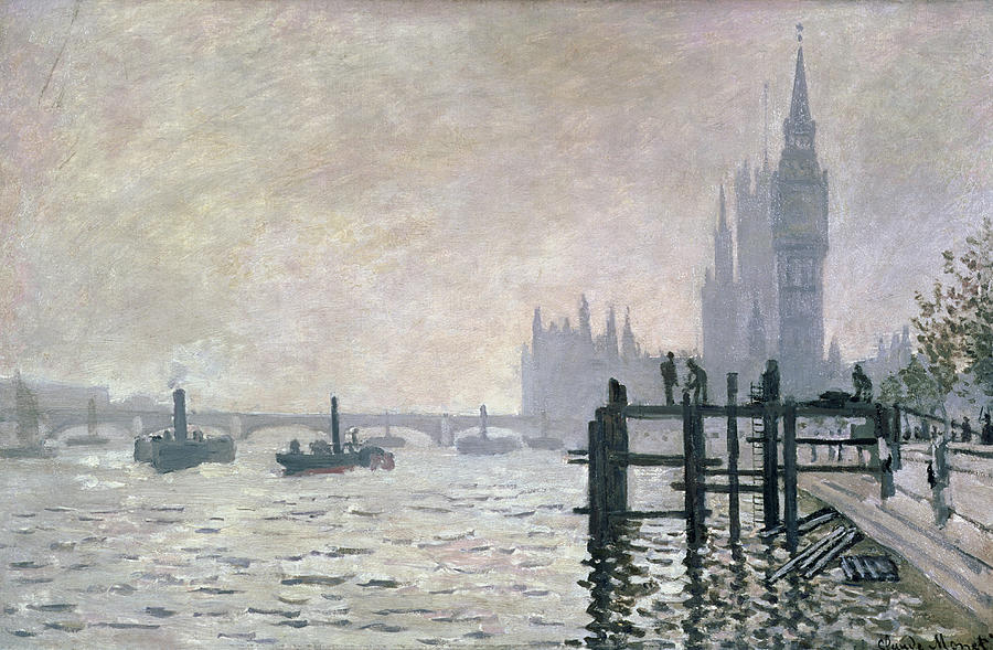 The Thames Below Westminster Painting  - The Thames Below Westminster Fine Art Print