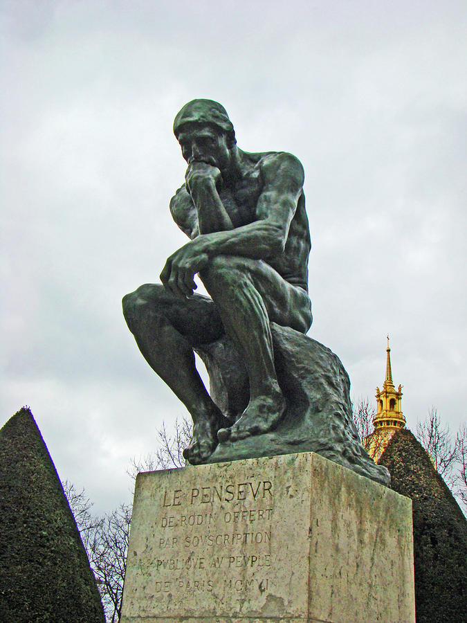 The Thinker By Rodin Photograph  - The Thinker By Rodin Fine Art Print