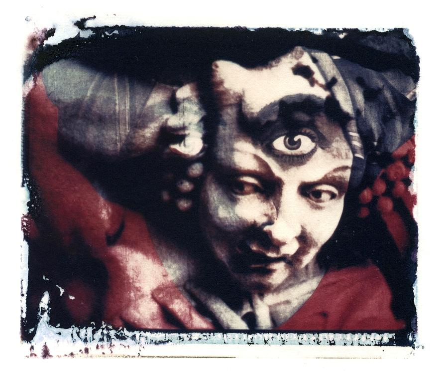 The Third Eye Polaroid Transfer Photograph