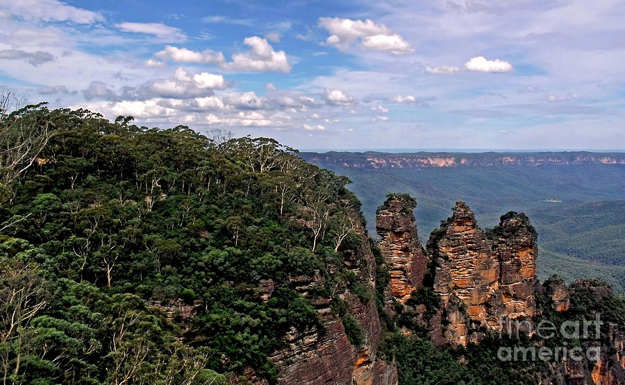 Photography Photograph - The Three Sisters - The Blue Mountains by Kaye Menner