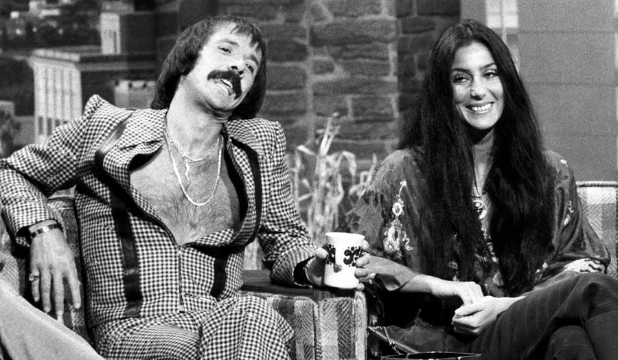 The Tonight Show, Sonny & Cher, 1975 Photograph  - The Tonight Show, Sonny & Cher, 1975 Fine Art Print