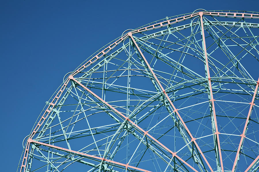 The Top Of A Ferris Wheel, Low Angle View Photograph  - The Top Of A Ferris Wheel, Low Angle View Fine Art Print