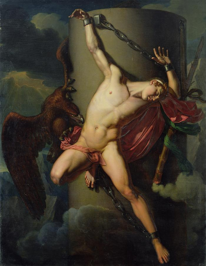 The Torture Of Prometheus Painting