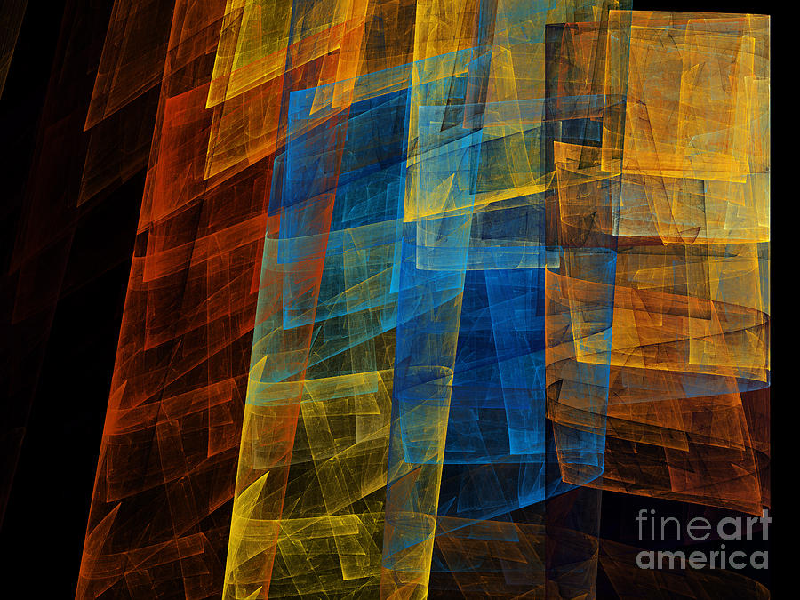 Fine Art Digital Art - The Towers 1 by Andee Design