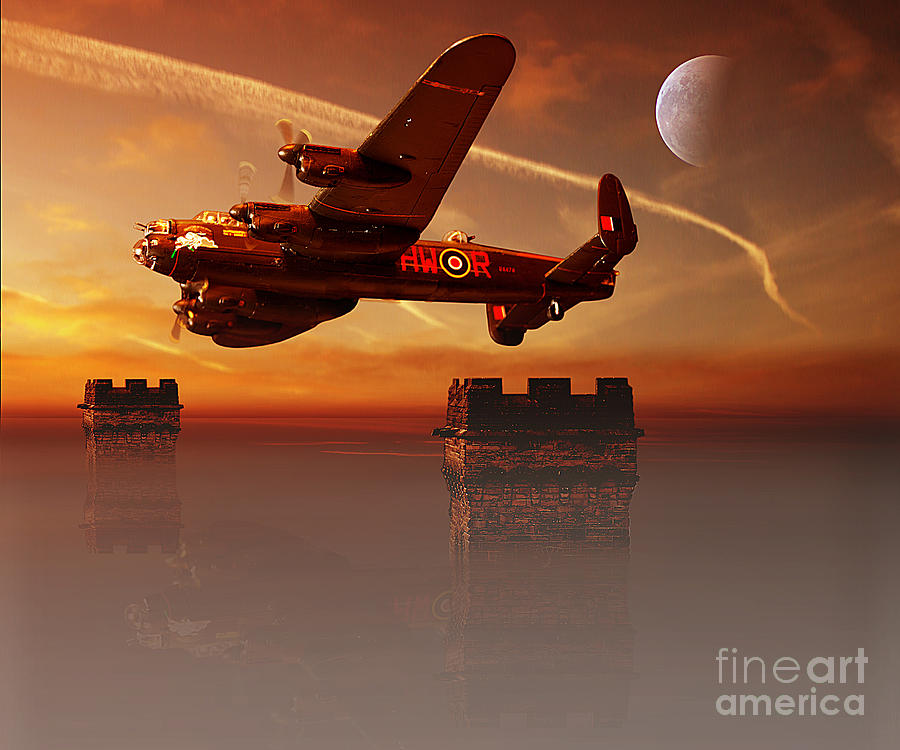 Avro Lancaster Pyrography - The Towers by Nigel Hatton
