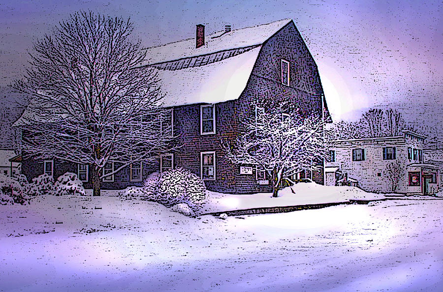 The Town Hall In Reading Vermont Photograph  - The Town Hall In Reading Vermont Fine Art Print