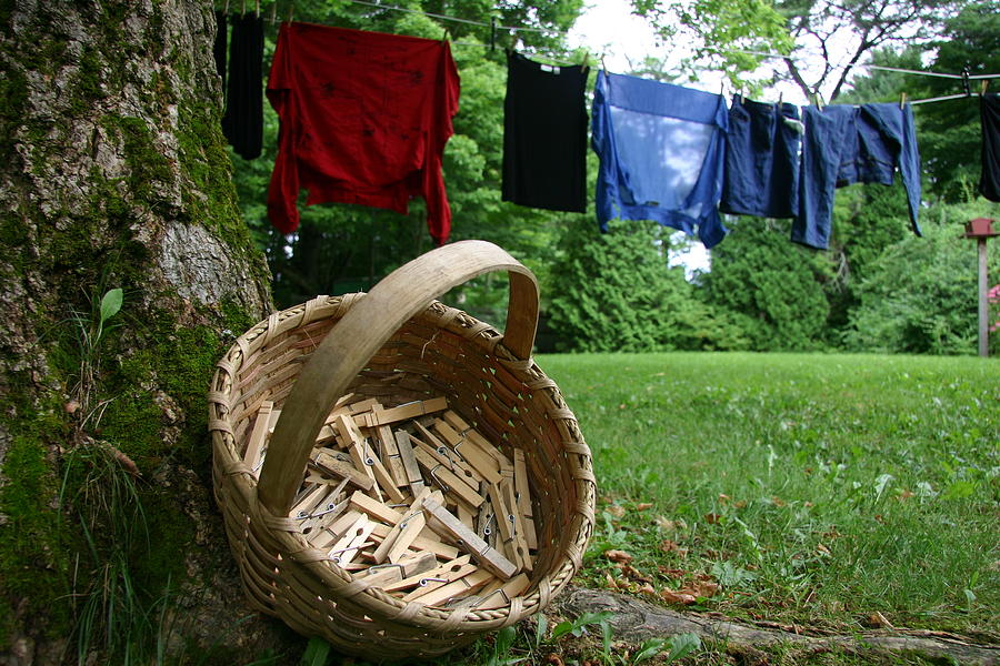 The Traditional Approach To Washday Photograph  - The Traditional Approach To Washday Fine Art Print