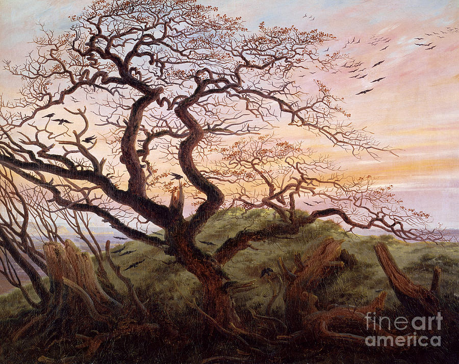 The Tree Of Crows Painting - The Tree Of Crows by Caspar David Friedrich