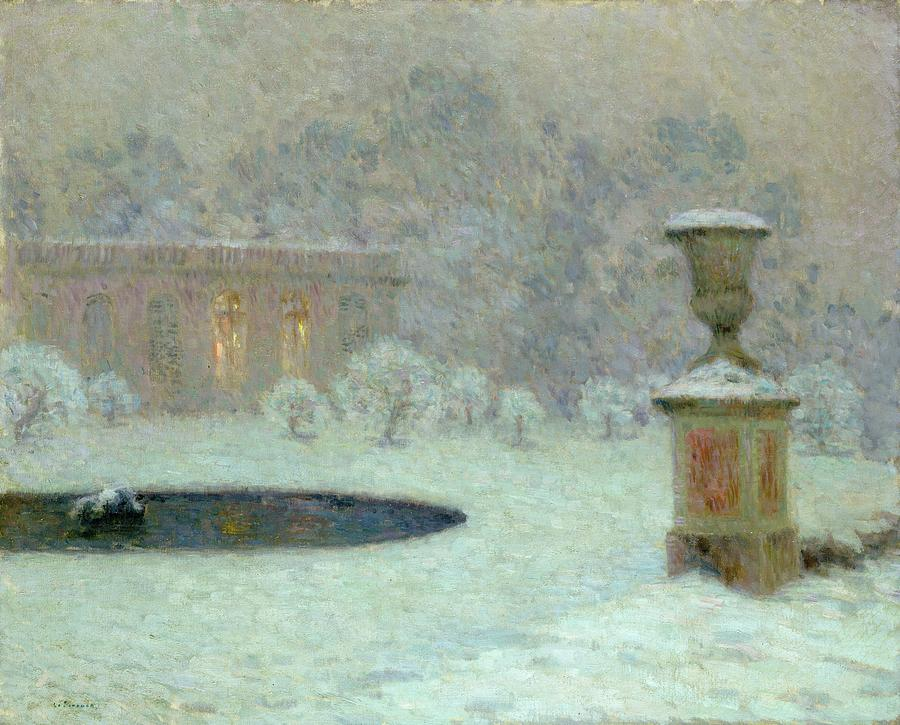 The Trianon Under Snow Painting