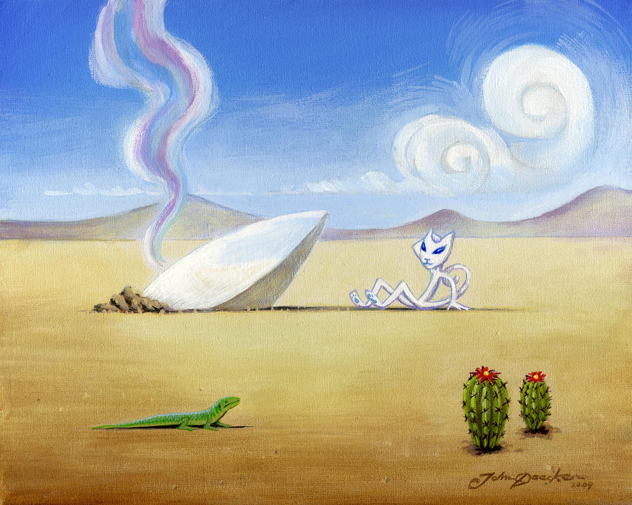 The Truth About Roswell Painting  - The Truth About Roswell Fine Art Print
