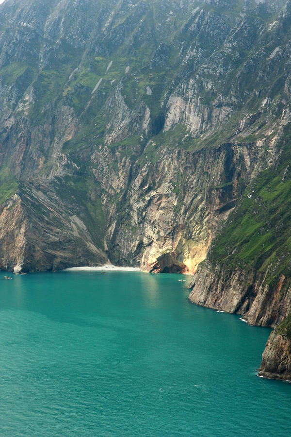 The Turquoise Water At Slieve League Sea Cliffs Donegal Ireland  Photograph