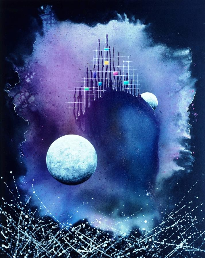 The Twin Moons Painting
