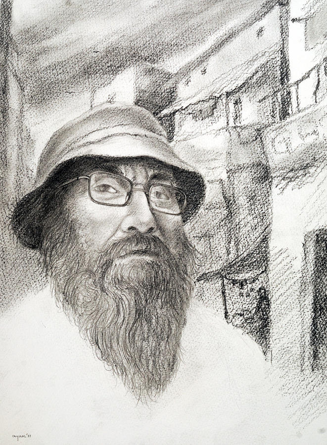Unknown Author  Drawing - The Unknown Author by Ayan  Ghoshal