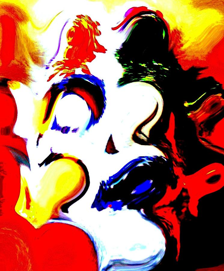 The Unmasking Of Youth Mixed Media  - The Unmasking Of Youth Fine Art Print
