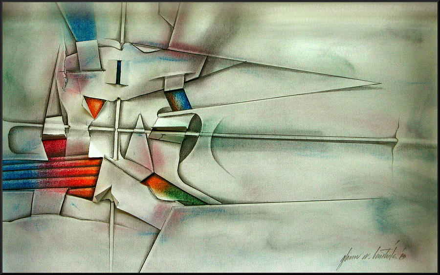 Cross Drawing - The Unseen - Cross 1989 by Glenn Bautista