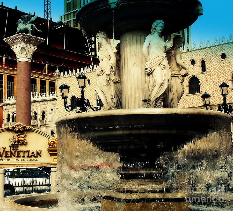The Venetian Fountain In Las Vegas Photograph