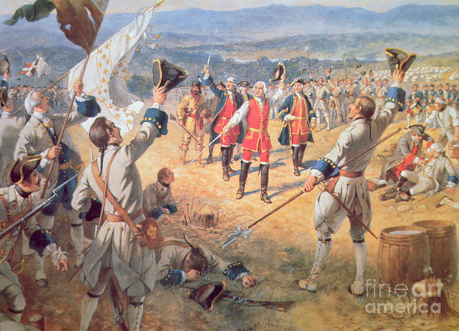 The Victory Of Montcalms Troops At Carillon Painting