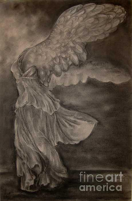 The Victory Of Samothrace Drawing