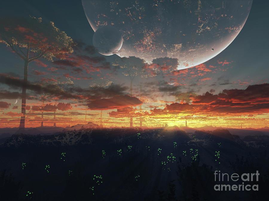The View From An Alien Moon Towards Digital Art