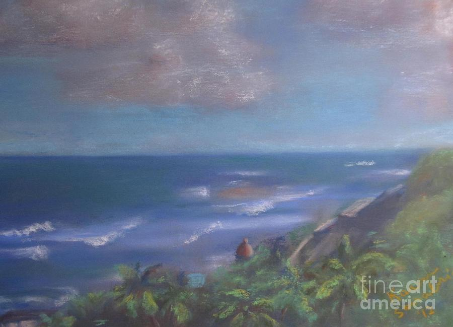 The View From Old San Juan Pastel  - The View From Old San Juan Fine Art Print
