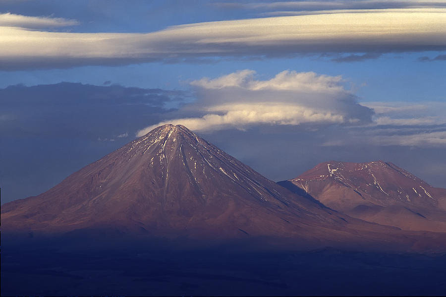 The Volcano Llicancabur. Republic Of Bolivia. Photograph  - The Volcano Llicancabur. Republic Of Bolivia. Fine Art Print