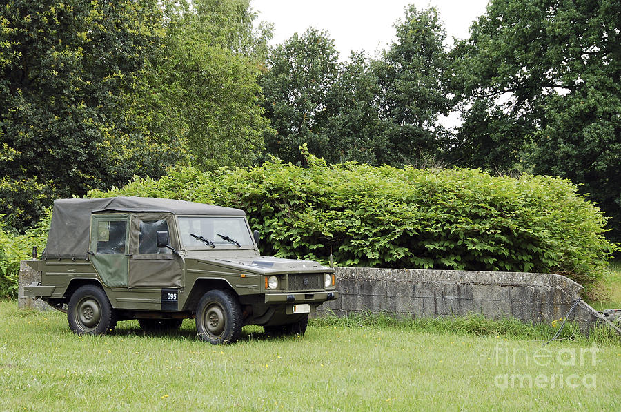 The Vw Iltis Jeep Used By The Belgian Photograph  - The Vw Iltis Jeep Used By The Belgian Fine Art Print