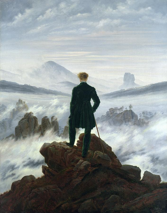 The Wanderer Above The Sea Of Fog Painting  - The Wanderer Above The Sea Of Fog Fine Art Print