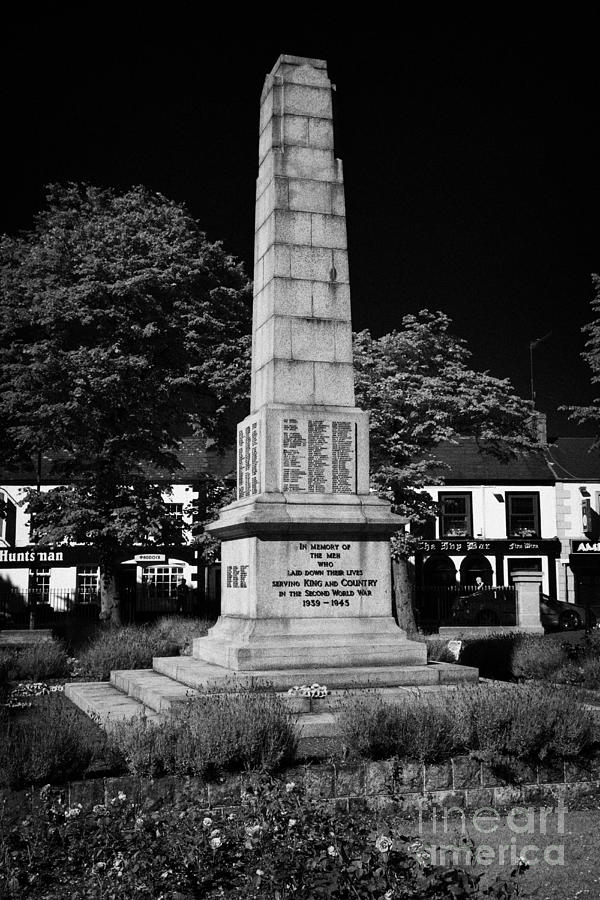 War Photograph - The War Memorial Newtownards County Down Northern Ireland by Joe Fox