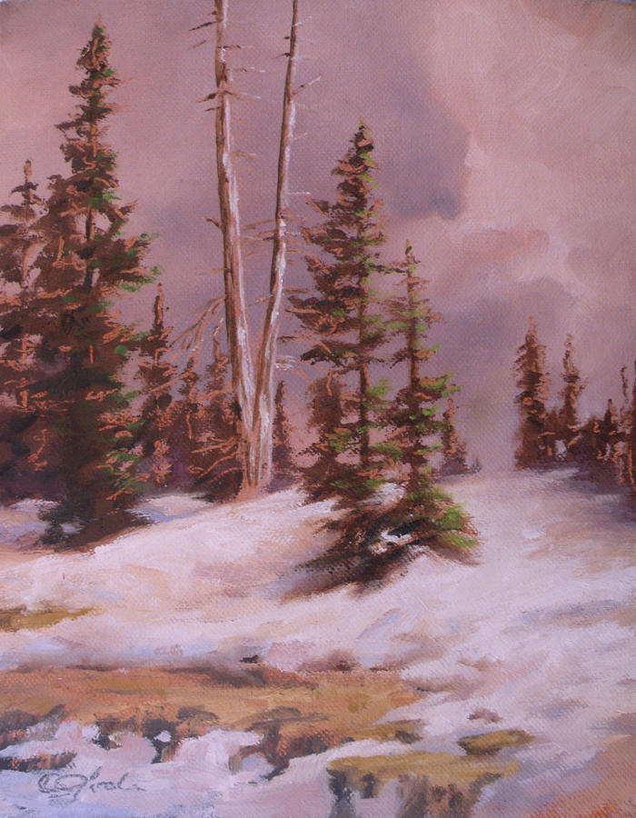 Mountains Painting - The Wasatch Divide Plein Air by Mia DeLode