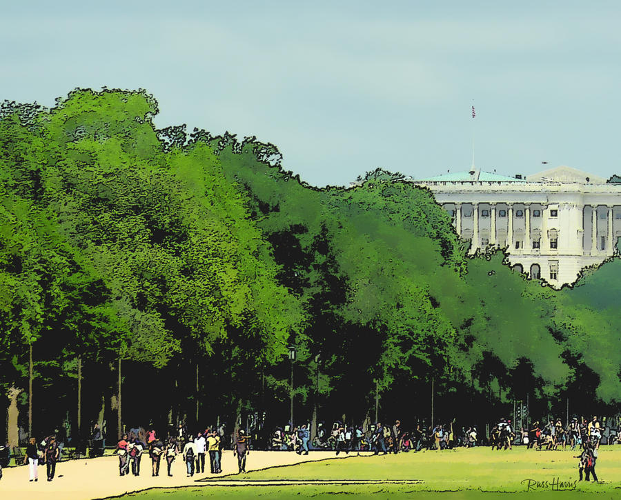 The Washington Dc Mall Painting  - The Washington Dc Mall Fine Art Print