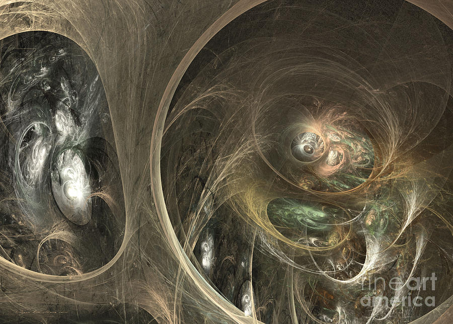 Fractal Digital Art - The Watcher Of Two Worlds by Sipo Liimatainen