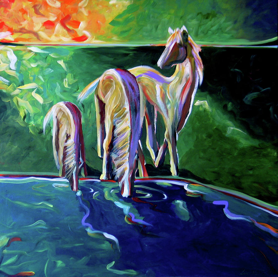 The Watering Hole Painting  - The Watering Hole Fine Art Print