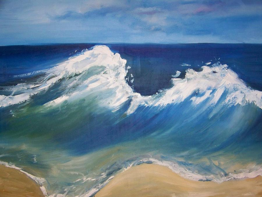 The Wave Painting  - The Wave Fine Art Print