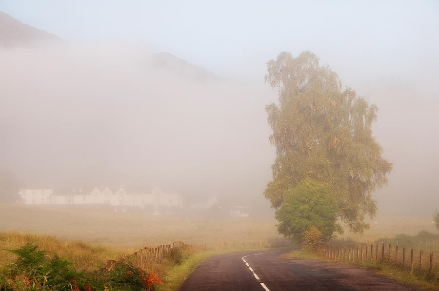 The Way To Never Never Land. Misty Roads Of Scotland Photograph  - The Way To Never Never Land. Misty Roads Of Scotland Fine Art Print