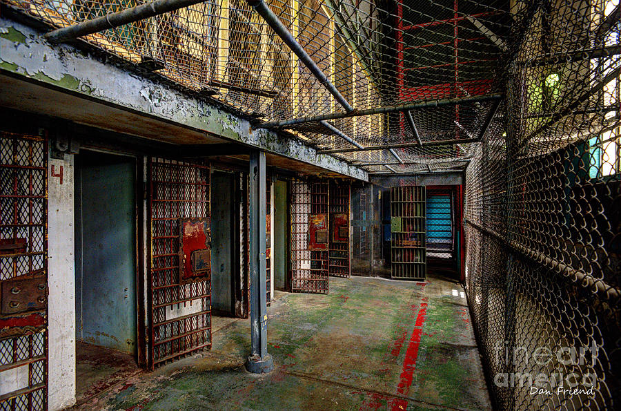 The West Virginia State Penitentiary Photograph - The West Virginia State Penitentiary Cells by Dan Friend