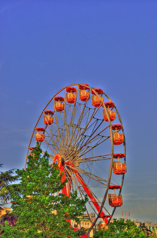 The Wheel Digital Art  - The Wheel Fine Art Print