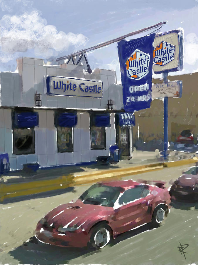 The White Castle Mixed Media  - The White Castle Fine Art Print